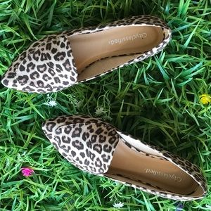 City Class'd Cheetah Pointed Comfort Flat Loafer